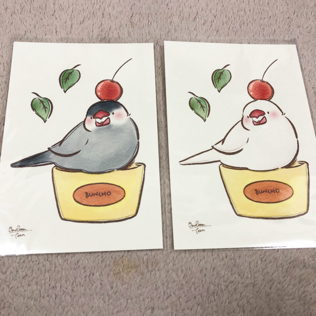 omupasta(Tenn)さんの文鳥ポストカード