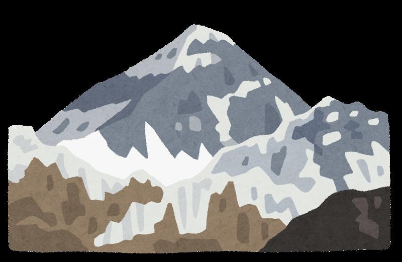 山岳地帯のイラスト