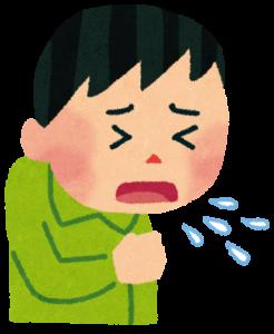 咳をしている男性のイラスト