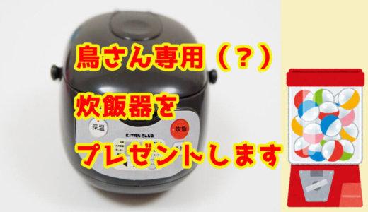 【プレゼント企画】ミニチュア炊飯器をプレゼントします!