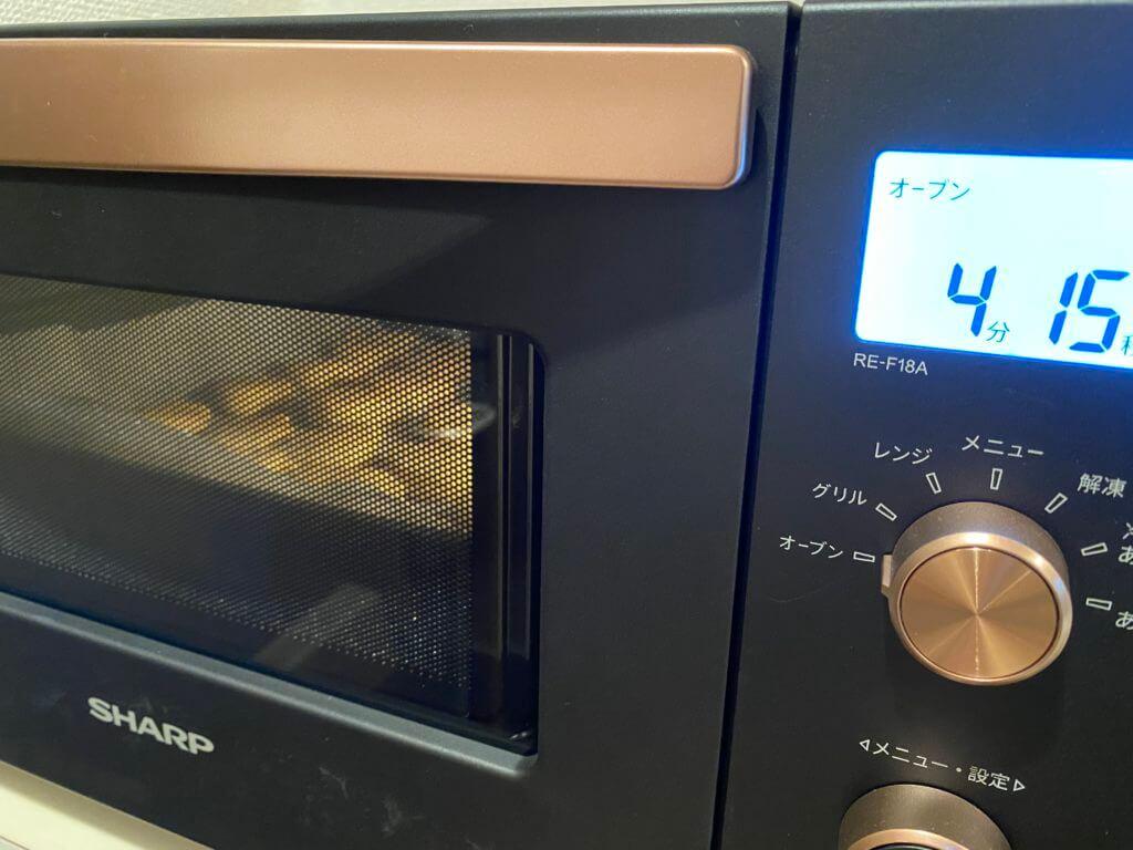 完成まで残り4分のクッキーを見守る
