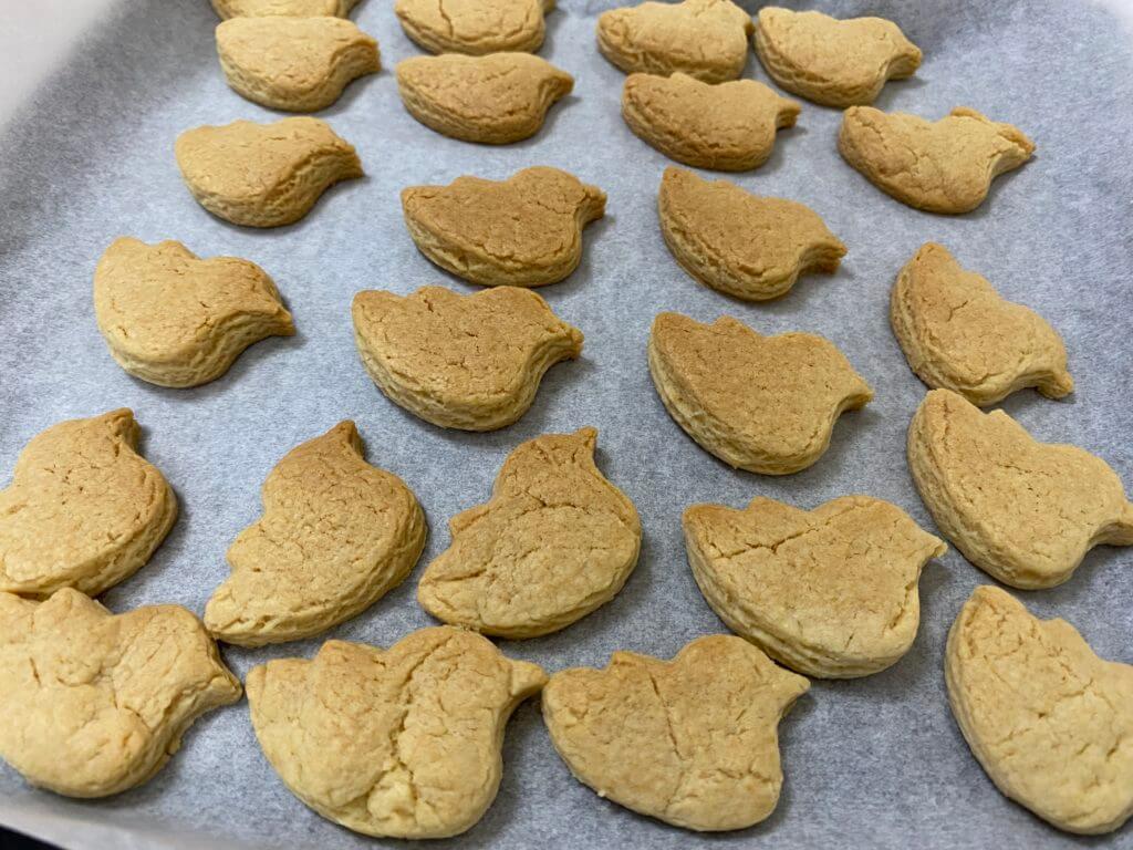 オーブンから出したクッキー