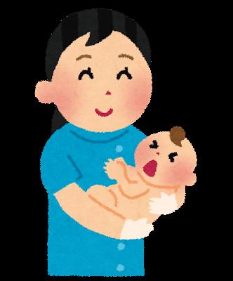 助産師さんと赤ちゃんのイラスト
