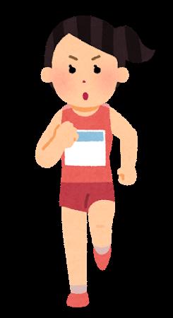 マラソンランナーの女性