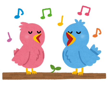 二羽の鳥のイラスト