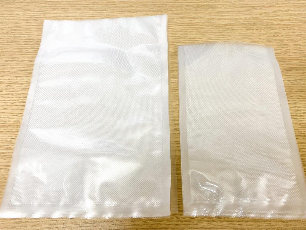 本体に付属している専用の真空パック袋
